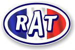 RAT Oval Funny Parody Design With France French Flag Motif Vinyl Car sticker decal 120x77mm